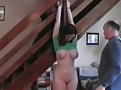 Amateur, Bondage, Cum in mouth, Threesome