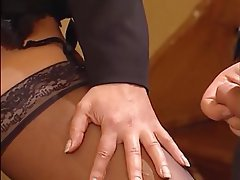 Cumshot, Lingerie, Pantyhose, Pornstar, Stockings