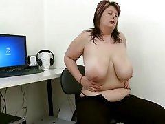 Babe, BBW, Masturbation, Chubby