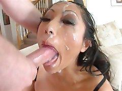 Asian, Blowjob, Cumshot, Facial, Deepthroat