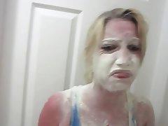 Blonde, Bukkake, Cumshot, Facial