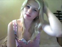 Blonde, Close Up, Masturbation, Skinny, Webcam