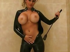 Babe, Big Boobs, Blonde, Latex
