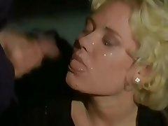 Blonde, Bukkake, Cumshot, Facial, Italian