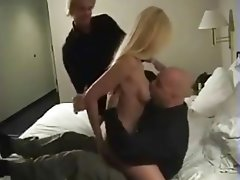Blonde, Blowjob, Cumshot, Group Sex